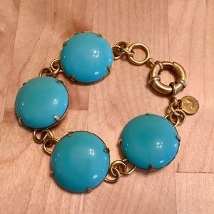 Loren Hope Link Bracelet Turquoise Brass